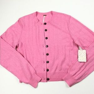 Free People Button UP Cardigan Sweater, NWT, M